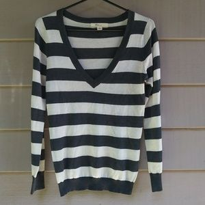 XXI striped thin v neck sweater